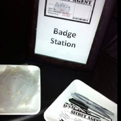 """instead of registration tables we do """"Badge Stations"""" LOVE IT!!!"""