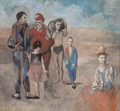 """Pablo Picasso, """"Family of Saltimbanques,"""" 1905, oil on canvas, National Gallery of Art, Washington, Chester Dale Collection © 2012 Estate of Pablo Picasso/Artists Rights Society (ARS), New York"""