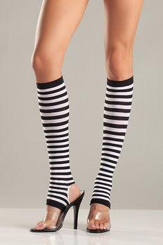 Black & White Stirrup Stockings