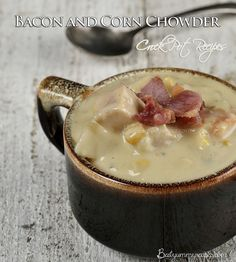 Crock Pot Recipes Bacon and Corn Chowder