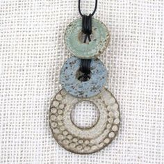 Judi Tavill/jtceramics - Ceramic Pendants, Totem Necklace