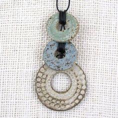 Judi Tavill/jtceramics - Ceramic Pendants, Totem Necklace