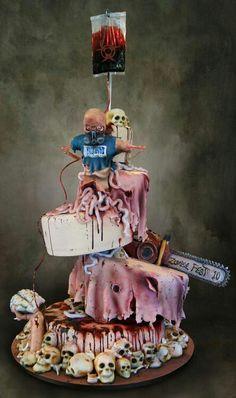 Zombie nerd cake design
