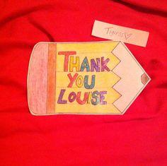 "Home made ""thank you"" card.  #homemade #card #Tigress"
