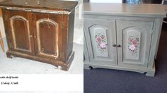 Sold. Entry way cabinet. Needed alot of help. we removed trim, painted, added new knobs. www.handpaintedbycookie.com