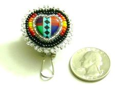 Heart earrings post by Nativebeads on Etsy, $35.00
