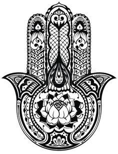 Vecteur indienne symbole hamsa dessin la main Banque d'images