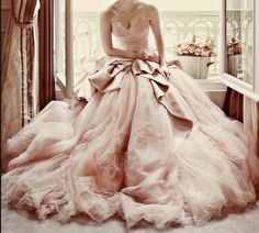 Dreamy pink wedding dress - Colin Cowie Weddings