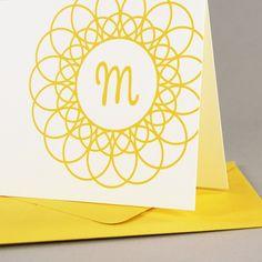 Doily Custom Personalized Stationery / Personalized Stationary    etsy: SilhouetteBlue  Personalized Stationery & Invitations