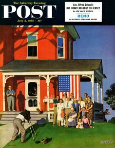 """""""Family Portrait on the Fourth,"""" by John Falter (July 5, 1952)"""
