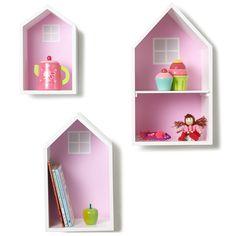 Townhouse Wall Shelves - Pink - Wall Shelves - Furniture