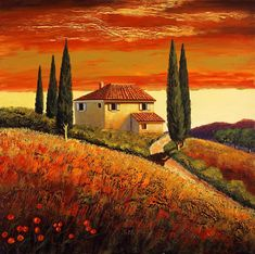 Santo De Vita - Sunset Over Tuscany Ii - 30 X 30 In. Description from liveauctioneers.com. I searched for this on bing.com/images