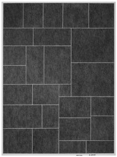 grey floor tiles-light grout-don't like this combination.