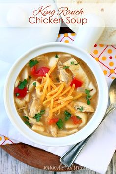 King Ranch Chicken Soup | Let's Dish Recipes