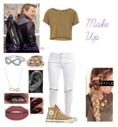 """""""Clint Barton~Make Up"""" by queenreigns-916 ❤ liked on Polyvore featuring FiveUnits, Topshop, Converse, With Love From CA and SPINELLI KILCOLLIN"""
