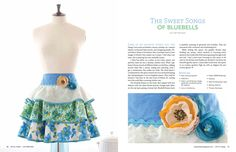 Sweet Songs of Bluebell Apron By Trish Vernazza Featured designer in Home Magazine by VisionsofVenus on Etsy