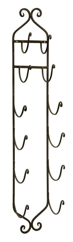 Rustic Wall Mounted Metal Towel or Wine Rack
