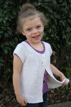 Knitting Pure and Simple - 106 - Girl's Cap Sleeve Cardi Vest (18m - age 8)