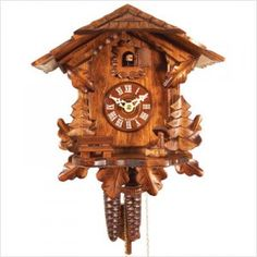 Chalet Cuckoo Clock with Leaf Designs - I really want one of these.
