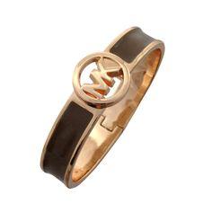 Fashion Michael Kors Skinny Logo Coffee Bracelets Online!