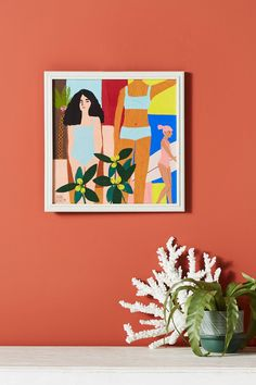 Summer Wall Art - Painting of Women in Swimsuits Bikini Art - Summer California Painting Vibe - Bright Art $158 - Affordable Painting Art