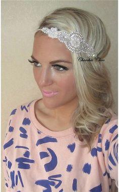 Silver Diamante Ivory Pearl Vintage Tiara Bridal Head Hair Band Choochie Choo #ChoochieChoo