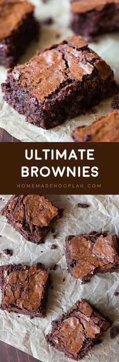 The Ultimate Brownie Recipe - Brownie & Blondie Recipes - - The Ultimate Brownie Recipe Ultimate Brownies! If you& looking for a go-to brownie recipe to add to your baking arsenal, this is one of the BEST brownie recipes out there, hands down! Ultimate Brownie Recipe, Brownie Recipes, Chocolate Recipes, Cookie Recipes, Dessert Recipes, Cheap Chocolate, Chocolate Fudge, Chocolate Lovers, Chocolate Chips