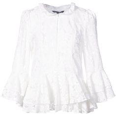 lace placket blouse - White P.A.R.O.S.H. Shop For For Sale Countdown Package Cheap Online zt4VZEEl