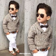 Dressing Kids Like Adults is an Awesome Trend - Boy Fashion - Kids Style Outfits Niños, Toddler Outfits, Baby Boy Outfits, Kids Outfits, Baby Boy Dress, Baby Boy Swag, Toddler Boy Fashion, Little Boy Fashion, Little Boy Outfits