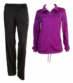 4194286a30c2e2 Adidas Young PES Suit Womens Tracksuits Sweat suits Jogging Sports Training  Leisure casual clothing TS ladies women purple black S
