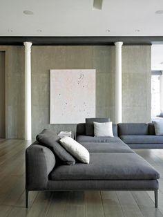 Anspruchsvolles New Yorker Loft - Neu Sophisticated New York loft New York Loft, Ny Loft, Warehouse Loft, Loft Interior Design, Interior Architecture, Interior And Exterior, Modern Interior, Simple Interior, Canapé Design
