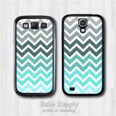 Samsung Galaxy S4 case Galaxy S3 case  Mint Chevron  by BabeSupply, $8.99
