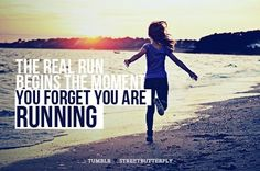 forget that you are running...!