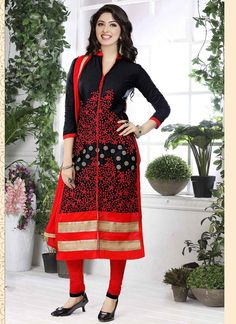 Shop Online Black Glace Cotton #CasualSalwar @Chennaistore.com