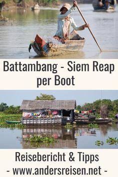 Die Fahrt Battambang - Siem Reap per Boot ist absolut beeindruckend und ein Abenteuer. Die Bootsfahrt am Fluss Sangker bietet besondere Bilder von Kambodscha. Reisebericht und Tipps im Kambodscha Reiseblog. #kambodscha #boot #battambang #siemreap Battambang, Siem Reap, Angkor, Wanderlust, Highlights, Happiness, Travel, Outdoor, Live