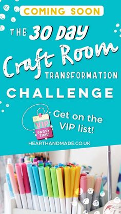 Be the first to know when the Craft Room Transformation challenge will be launched! We will totally transform your space in 30 days Deep Cleaning Tips, Cleaning Hacks, Day Room, Mollie Makes, Mini Craft, Types Of Craft, Craft Storage, Storage Ideas, Craft Organization