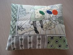 Handmade Sachet Pin Cushion  Vintage Sewing by backgatecottage