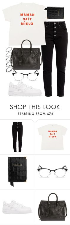 """""""Untitled #2514"""" by mariie0h ❤ liked on Polyvore featuring Balenciaga, Aspinal of London, Ray-Ban, NIKE, Yves Saint Laurent and ASOS"""