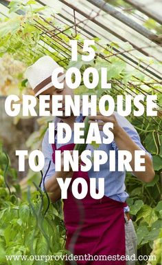 Is spring not coming fast enough for your green thumb? Click here to see 15 cool greenhouse ideas to inspire you to build a greenhouse in your backyard to get planting sooner. #garden #gardening #gardenideas #greenhouse via @ourprovidenthom