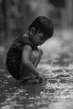 Black & White Photography - Rain