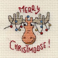 Merry Christmoose Cross Stitch Kit: Cross stitch (Mouseloft, 014-G35stl)                                                                                                                                                                                 More