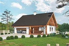 Projekt domu Murator C333j Miarodajny - wariant X 86,6 m2 - koszt budowy 174 tys. zł - EXTRADOM Home Fashion, Cabin, House Styles, Home Decor, Arquitetura, Projects, Room Decor, Cabins, Home Interior Design