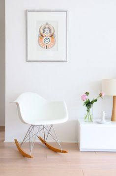 Scandinavian Style Furniture Design Inspiration That You Need To See Interior Design Inspiration, Home Decor Inspiration, Decor Ideas, Eames Rocker, Scandinavian Style Home, Scandinavian Living, Nordic Style, Eames Chairs, Dining Chairs