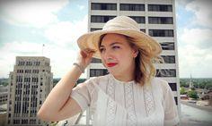Wide Brim Hat/Raffia Hat/Sunhat/Ivory by littleedenvintage on Etsy