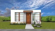 Fachada moderna casa pequeña