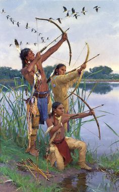 The Bowmaster's Lesson - 2013 Cowboy Artists of America > R. Native American Warrior, Native American Wisdom, Native American Beauty, American Spirit, American Indian Art, Native American History, American Indians, Native American Hunting, Native American Paintings