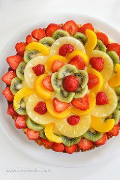Crostata di frutta con crema pasticcera al limone - Tart fruit with lemon custard