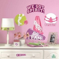 Cheer Wall Decals Easy to remove and re-position. Will not damage walls or other surfaces.
