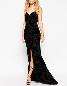 Needle & Thread | Needle & Thread Scatter Devore Velvet Burnout Maxi Dress at ASOS