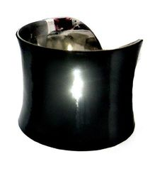 Black Patent Leather Cuff by unearthed.etsy